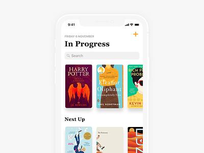 Books App Home - WIP book app bookshelf bookshop books iphonex app design design app ios 11 ios