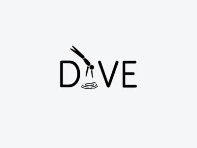 Dive art minimal logodesign icon logo design monogram logo wordmark branding brand symbol mark logotype
