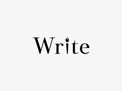 Write art minimal logodesign icon logo design monogram logo wordmark branding brand symbol mark logotype