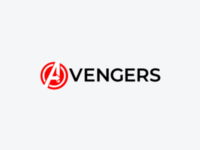Avengers marvel art minimal logodesign icon logo design monogram logo wordmark branding brand symbol mark logotype