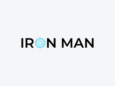 Iron Man marvel art minimal logodesign icon logo design monogram logo wordmark branding brand symbol mark logotype