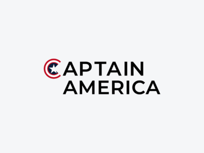 Captain America marvel art minimal logodesign icon logo design monogram logo wordmark branding brand symbol mark logotype