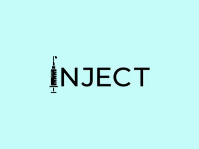 Inject science lab experiment inject art minimal logodesign icon logo design monogram logo wordmark branding brand symbol mark logotype
