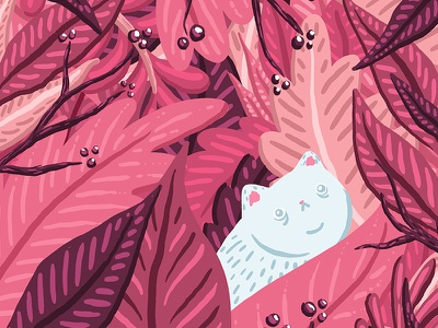 Fern Kitty folk art folk paint tool tool presets illustrated vintage design social media illo illustration