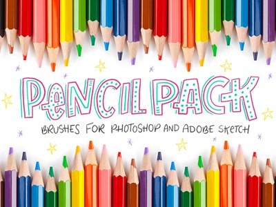 Pencil Pack - Photoshop Brushes pencil tpl sketch wacom adobe design letters illo illustration lettering hand lettering