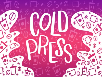 Cold Press Font font typeface freelance surface wacom adobe design letters illo illustration lettering hand lettering