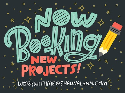 Now Accepting New Projects! graphic design illustration freelance letters lettering hand lettering