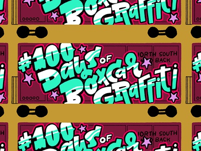 100 Days of Boxcar Graffiti brush digital brushes digital graphic design photoshop brushes ps brushes brushes lettering hand lettering