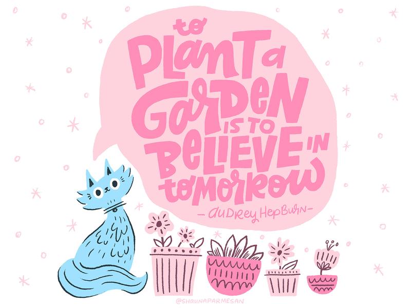 To Plant a Garden kidlit kidlitart hand-lettering hand drawn cintiq ink digital design letters illustration hand lettering lettering