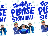 Ice Skating Sign In Poster