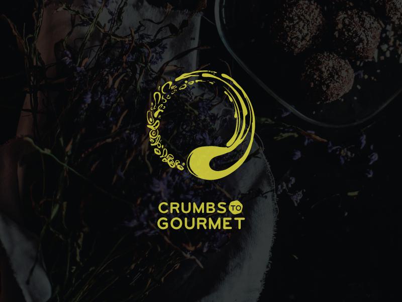 Crumbs to Gourmet restaurant logo identity gourmet food crumbs branding brand baking bakery