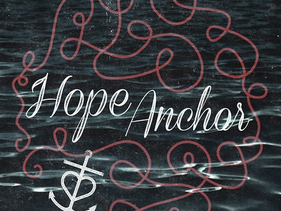 Hope Anchor Script script rope anchor hope logo distress water nautical sea type