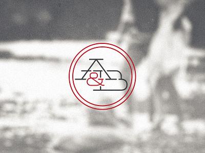 A&B Mark a b ab logo mark wordmark type wedding photography