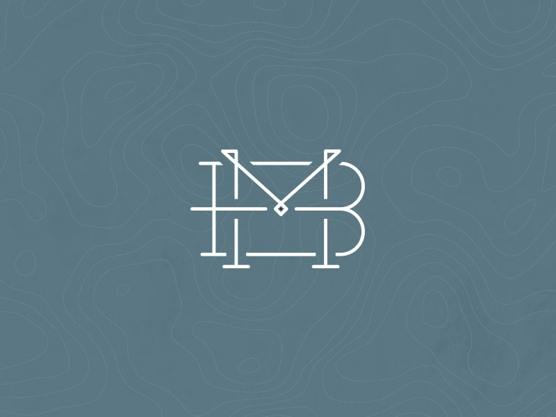 BM Adventure Logo identity serif slab design photo logo m b bm