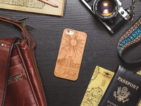 Detroit Skyline Wood iPhone Case