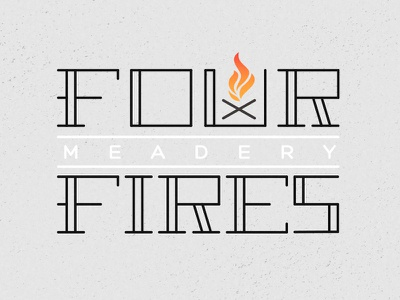 four fires initial idea booze camp flame fires four