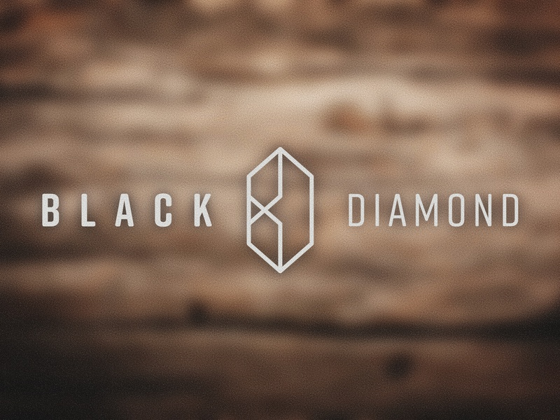 Black Diamond Logo wood diamond black pedalboard guitar brand type logo mark bd black diamond