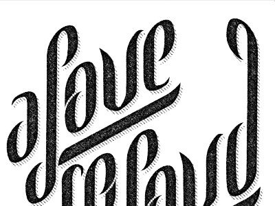 ALSL work in progress #2 logo script texture identity branding type typography hand-drawn lettering