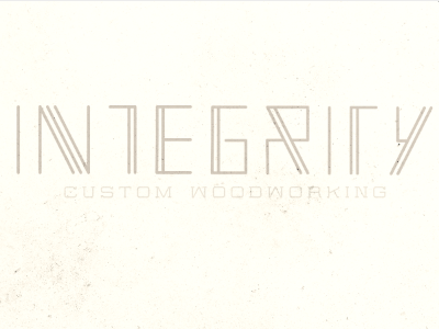 Integrity type treatment logo type custom