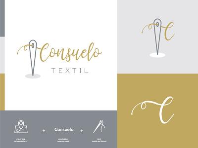 Branding of Consuelo Textil branding logotype logodesigner logo branding and identity branding agency branding concept