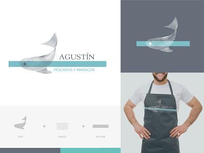 Branding of Agustín logo design logo branding logodesigner branding and identity branding agency branding concept