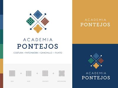 Branding of Pontejos Academy logotype logo design logodesigner logo branding agency branding branding and identity branding concept