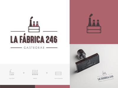 Branding of La Fábrica 246 logo logotype logodesigner branding branding and identity branding agency branding concept