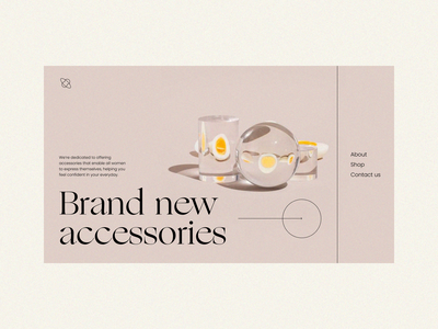 Main screen ecommerce trendy style fashion jewelry promo ecommerce accessories ux ui interaction design interface