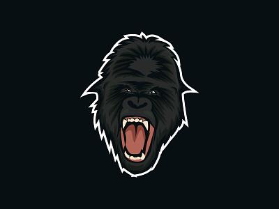 Gorilla-Mascot-Logo web design typography product design print mobile illustration branding animation angry gorilla king kong mascotlogo icon monkey esport ape mascot design mascot logo gaming logo animal logo gorilla-mascot-logo