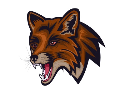 Fox-Mascot-Logo web design typography product design print mobile illustration branding animation angry bird angry fox foxes foxy mad e-sport anger logotype esport fox-mascot-logo mascot logo gaming logo
