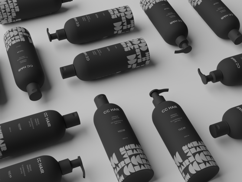 Shampoo Packaging Design Concept package design branding identity design cosmetic packaging shampoo