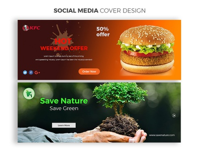 Social Media Cover Design twitter web design creative cover ai
