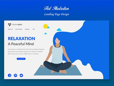 Flat Illustration character design eps ai creative illustration online minimal