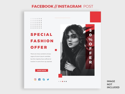 Social Media Post Design eps ai minimal creative
