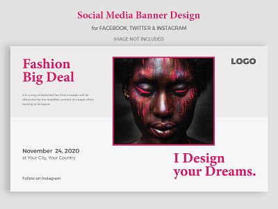 Facebook Cover Photo/Banner Design eps ai minimal creative