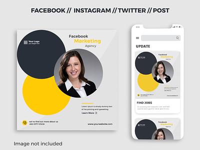 Social Media Post / Banner Design minimal twitter web design creative cover eps ai