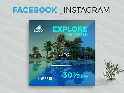 Social Media Post / Banner Design eps online creative cover vector minimal