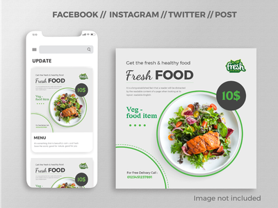 Social Media Post / Banner Design photo twitter cover minimal ai online web design creative illustration