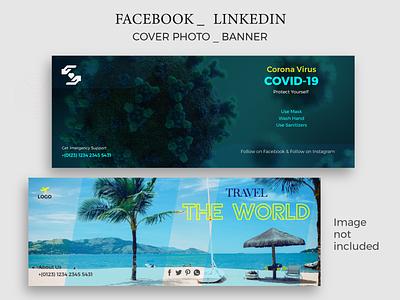 Facebook Cover Photo/Banner Design travel covid-19 ai linkedin eps creative online minimal