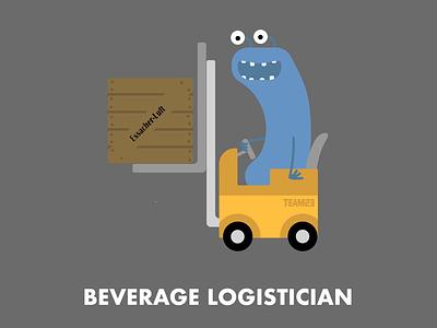 Beverage Logistican character design illustration