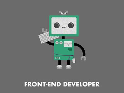 Front-End Developer character design illustration