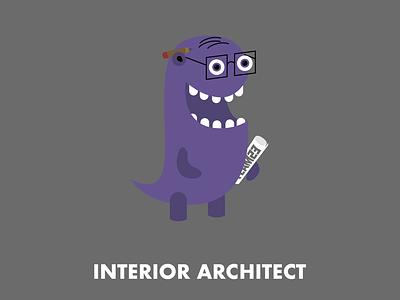 Interior Architect character design illustration