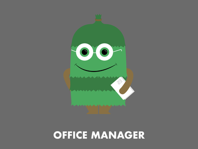 Office Manager character design illustration