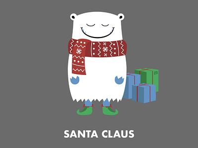 Santa Claus character design illustration