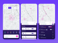Trip Planner App Concept map maps transit map schedule train transit micromobility scooter trip trip planner travel commuter commute clean ui cities dailyui daily ui ui mobile app