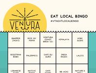 Ventura Eat Local Bingo ventura design illustrator typography graphic-design graphic design