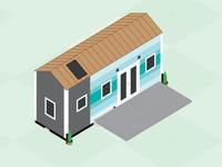 Isometric Tiny House design vector illustration graphic-design graphic design illustrator tinyhouse tiny house isometric