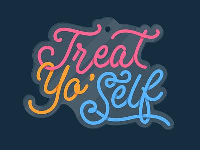 Treat Yo Self charm illustration design typography illustrator graphic-design graphic design