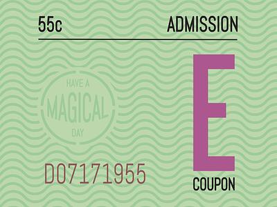 E Ticket Disneyland vintage graphic-design illustrator graphic design e ticket disney disneyland