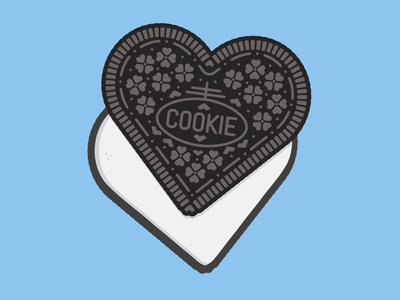 Heart Shaped Cookie oreo illustration design illustrator graphic-design graphic design crazy ex-girlfriend heart cookie